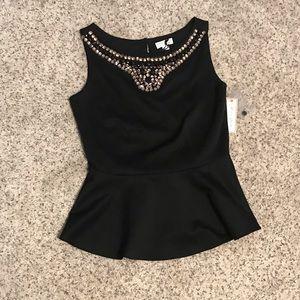 Bisou Bisou Black Dress Shirt (Michele Bohbot)